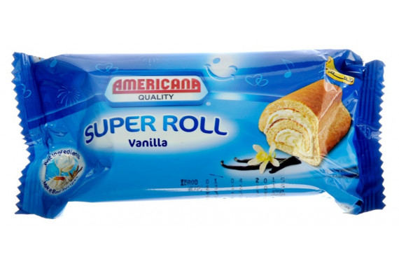 AMERICANA- SUPER ROLL WITH VANILLA -  85 G