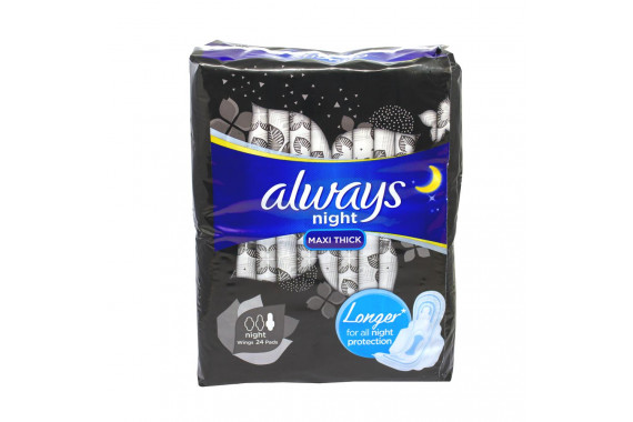 ALWAYS SANITARY PADS NW NIGHT 24'S