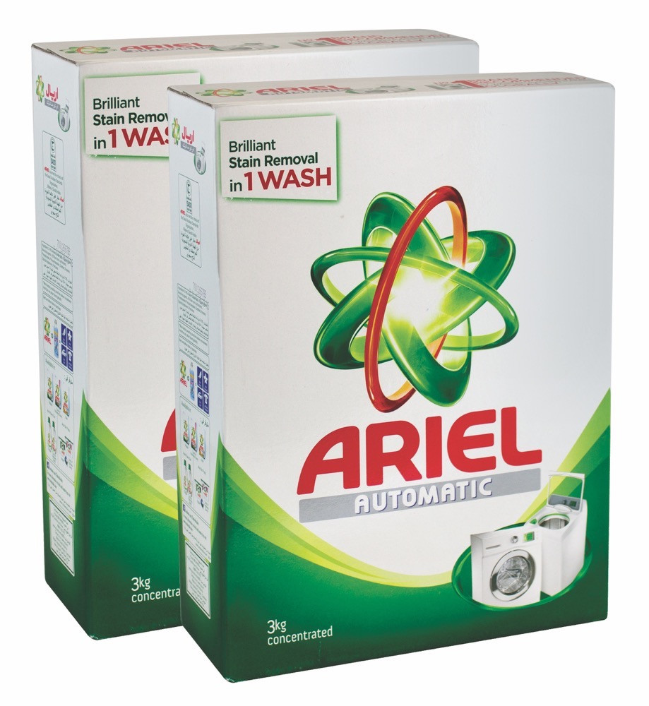 ARIEL WASHING DETERGENT GREEN ORIGINAL 2X3 KG