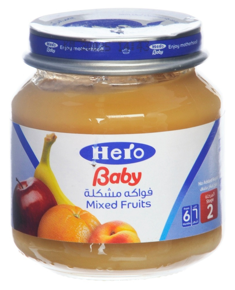 HERO BABY FOOD MIXED FRUITS JAR 130G