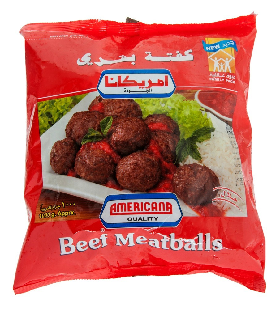 AMERICANA BEEF MEAT BALLS 1 KG