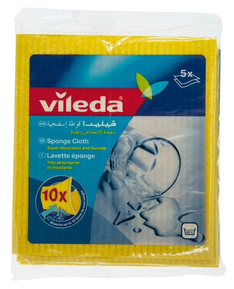 VILEDA SPONGE CLOTH - 5'S