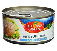 CALIFORNIA GARDEN WHITE MEAT TUNA IN WATER - 170G