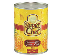 SUPER CHEF PINEAPPLE SLICES IN SYRUP-565 G
