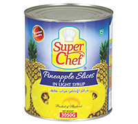 SUPER CHEF PINEAPPLE SLICE IN SYRUP-3050 G