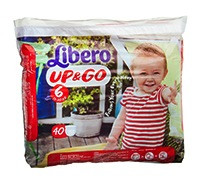 LIBERO DIAPER UP & GO PANTS XL 40'S