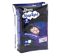 LIBERO DIAPER COMFORT SLEEP TIGHT 9 14'S