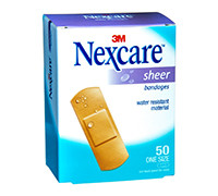 NEXCARE SHEER BANDAGES 50'S