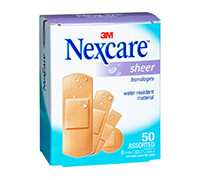 NEXCARE SHEER BANDAGES ASSORTED 50'S