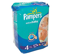 PAMPERS BABY DIAPER S4 17'S