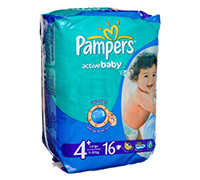 PAMPERS BABY DIAPER S4+ 16'S