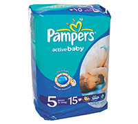 PAMPERS BABY DIAPER JUNIOR S5 15'S