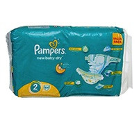 PAMPERS BABY DIAPER S2 VALUE PACK 64'S