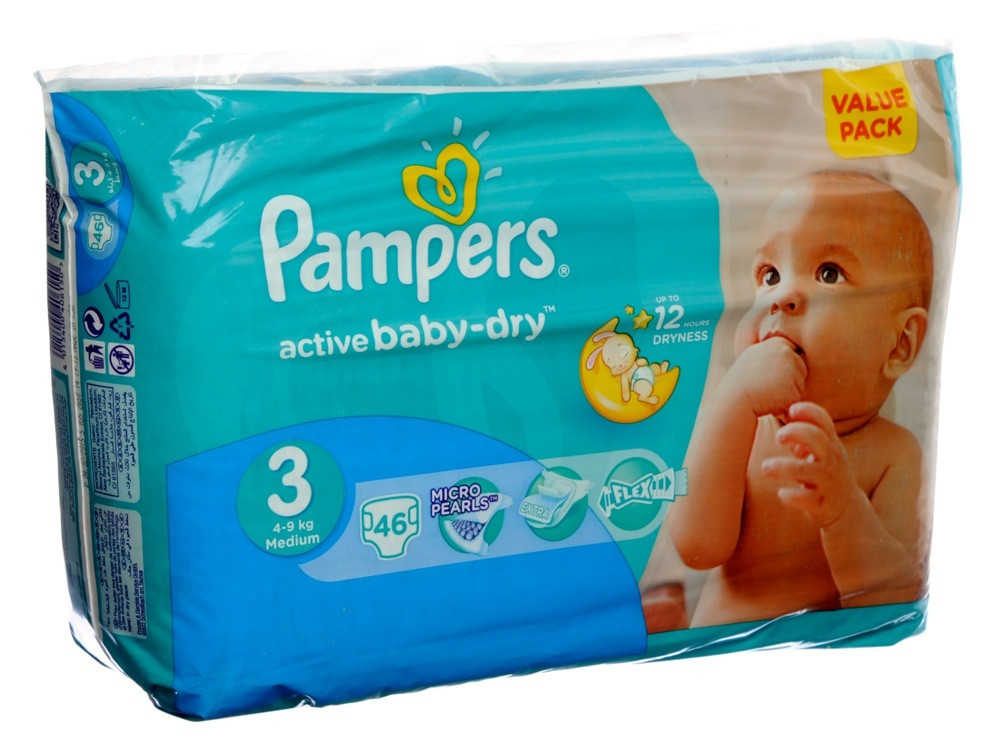 PAMPERS BABY DIAPER S3 VALUE PACK 46'S