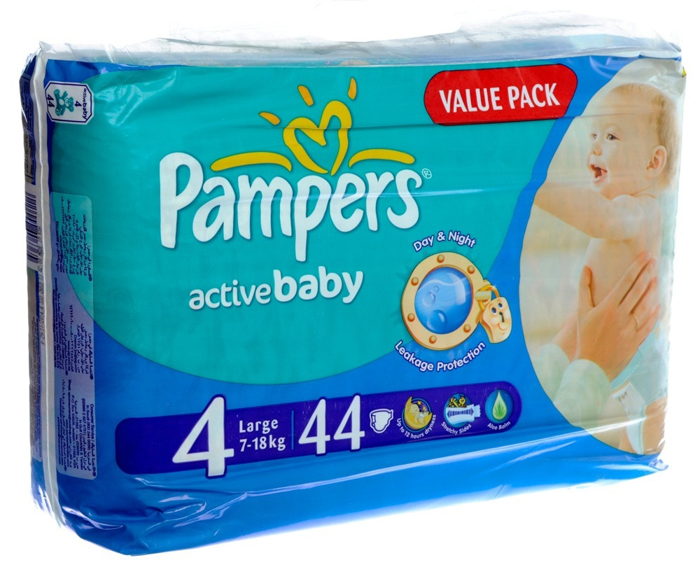 PAMPERS BABY DIAPER S4 VALUE PACK 44'S