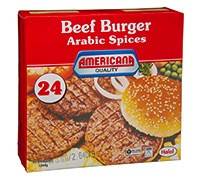 AMERICANA BEEF BURGER WITH ARABIC SPICES - 1344 G