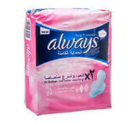 ALWAYS SANITARY PADS TOTAL PROTECT NW 24'S