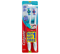 COLGATE 360 TOOTHBRUSH - MEDIUM - 2 PCS