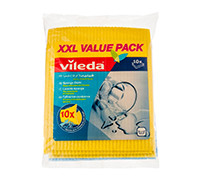 VILEDA SPONGE CLOTH XXL VALUE PACK 10'S