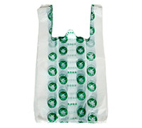 NMC- WHITE PRINTED T-SHIRT BAGS- LARGE- 100'S
